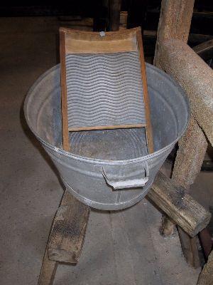 Barn50 Vaskebræt i zinkbalje